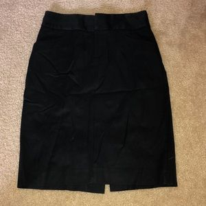 Black business casual skirt